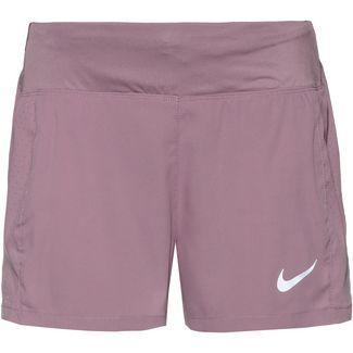 Nike Eclipse Laufshorts Damen plum dust-reflective silver