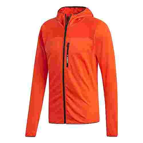 adidas TERREX TraceRocker Hooded Fleecejacke Hoodie Herren Active Orange