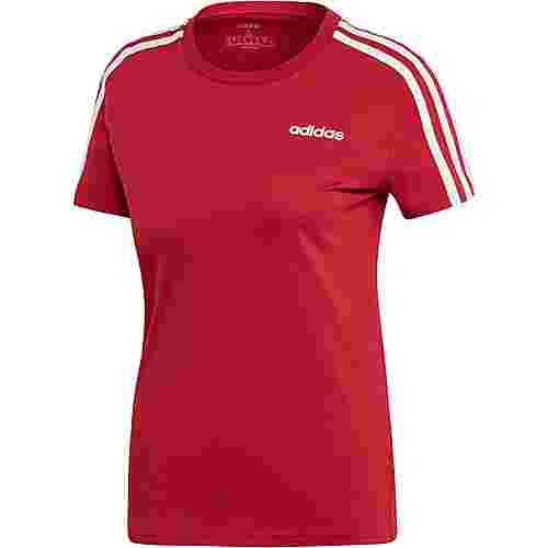 adidas Essential 3S T-Shirt Damen active maroon