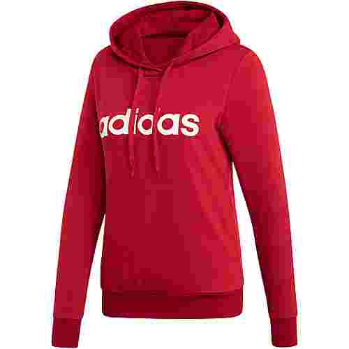 adidas Essentials Linear Hoodie Damen active maroon