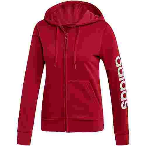 adidas Essentials Linear Sweatjacke Damen active maroon