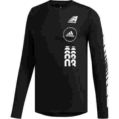 adidas MOTO Funktionssweatshirt Herren black