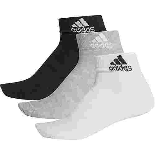adidas LIGHT ANK 3PP Socken Pack medium grey-heather