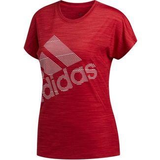 adidas Badge of Sport Funktionsshirt Damen active maroon