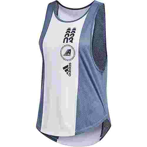 adidas Moto Graphic Funktionstank Damen white-blue