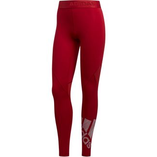 adidas Alphaskin Badge of Sport Tights Damen active maroon