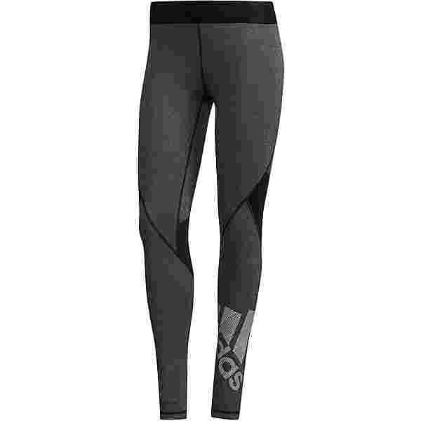 adidas Alphaskin Badge of Sport Tights Damen black