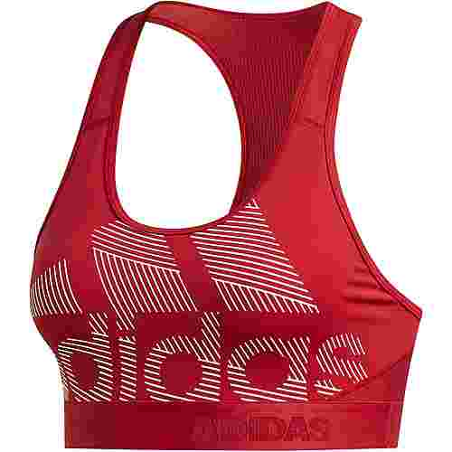 adidas Don't rest Alphaskin Badge of Sport Sport-BH Damen active maroon