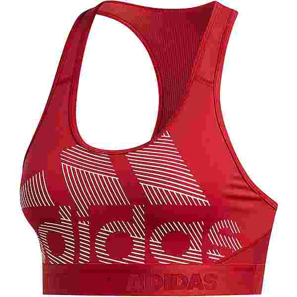 adidas Don't rest Alphaskin Badge of Sport BH Damen active maroon