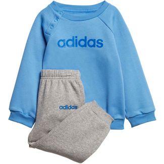 adidas Linear Trainingsanzug Kinder real-blue