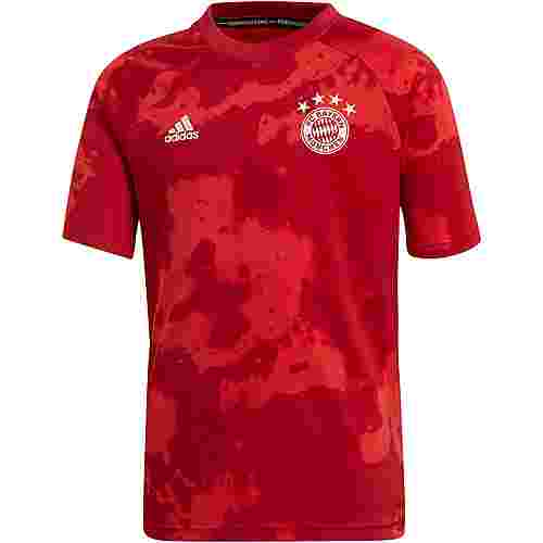 adidas FC Bayern Prematch Funktionsshirt Kinder fcb true red