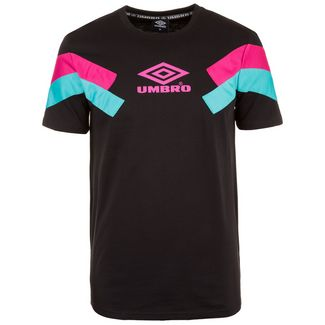 UMBRO Chevron T-Shirt Herren schwarz / pink