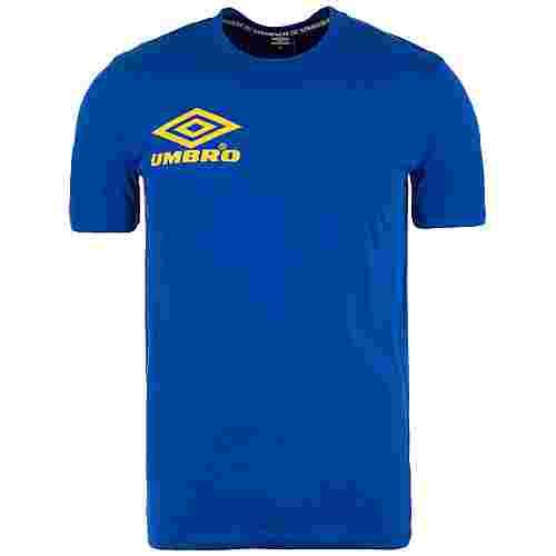 UMBRO Collider Crew T-Shirt Herren blau / gelb