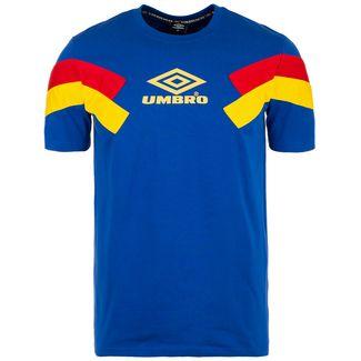 UMBRO Chevron T-Shirt Herren blau / gelb
