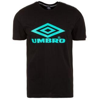 UMBRO Foundry Taped T-Shirt Herren schwarz / türkis