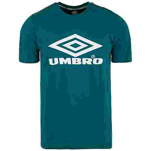 UMBRO Foundry Taped T-Shirt Herren türkis / weiß