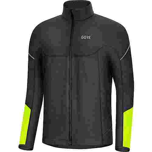 GORE® WEAR M Thermo Zip Fahrradtrikot Herren black-neon yellow