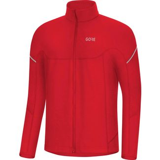 GORE® WEAR M Thermo Zip Fahrradtrikot Herren red