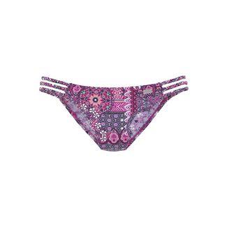 Buffalo Bikini Hose Damen aubergine-bedruckt