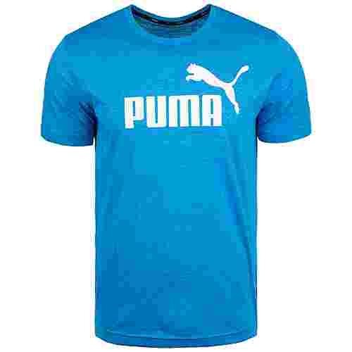 PUMA Essential Heather Funktionsshirt Herren blau / weiß