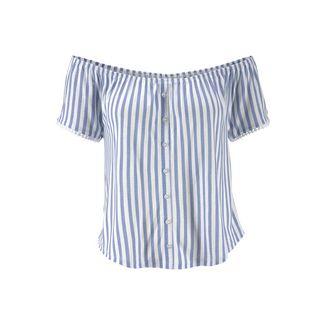 Lascana T-Shirt Damen blau-weiß-gestreift