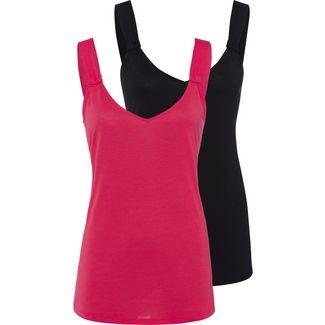 Lascana Shirt Doppelpack Damen rot+schwarz