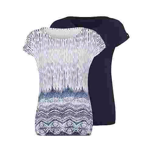 Lascana T-Shirt Damen blau+weiß-bedruckt