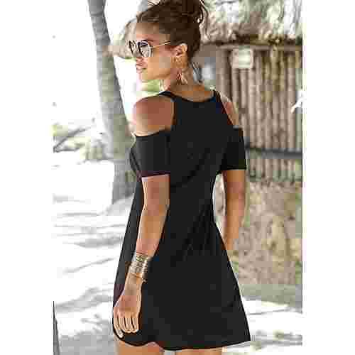 Lascana Longshirt Damen schwarz