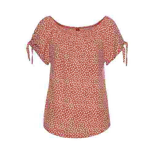 S.OLIVER T-Shirt Damen orange-creme bedruckt