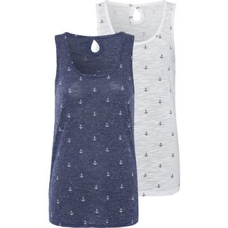 BEACH TIME Tanktop Damen marine+weiß