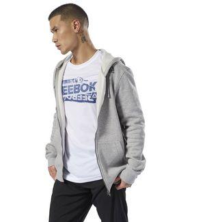 Reebok Elements Fleece Full-Zip Hoodie Trainingsjacke Herren Medium Grey Heather