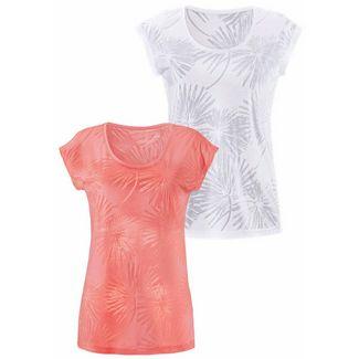BEACH TIME Shirt Doppelpack Damen apricot+weiß
