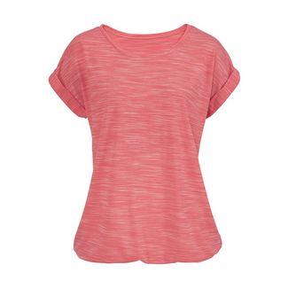 BEACH TIME Shirt Doppelpack Damen apricot-meliert+grau-meliert