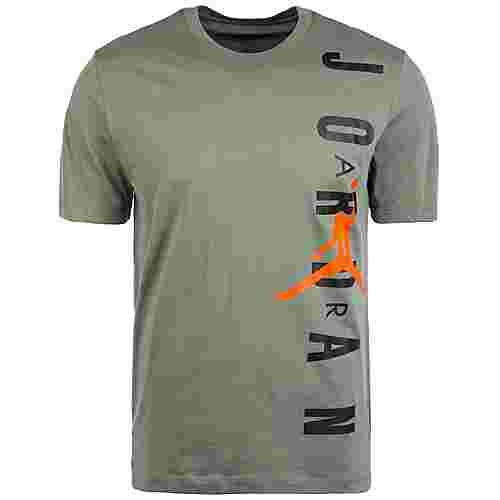 Nike Hybrid Vertical Jordan Basketball Shirt Herren oliv / schwarz