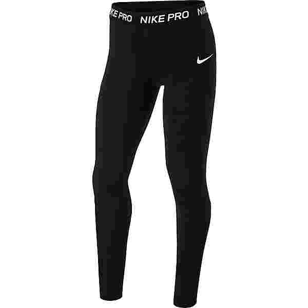 Nike Pro Tights Kinder black-black-black-white