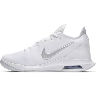 Nike AIR MAX WILDCARD HC Tennisschuhe Damen white-metallic silver-white