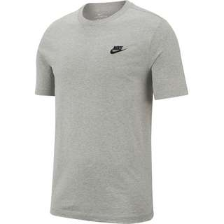 Nike NSW Club T-Shirt Herren dark grey heather-black