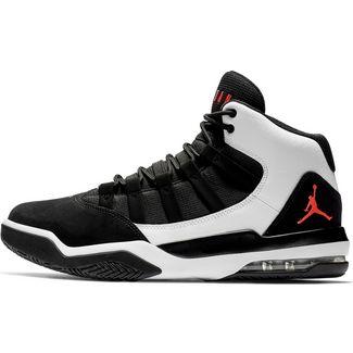 Nike Jordan Max Aura 1 Basketballschuhe Herren black-university red-white