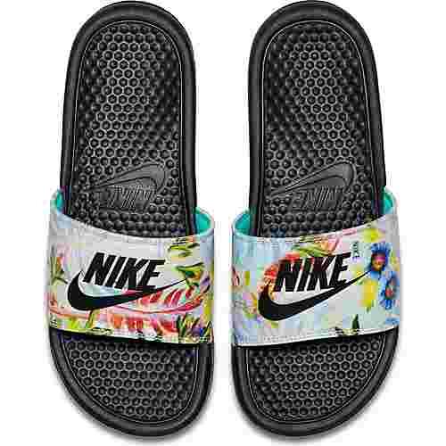 Nike Benassi JDI Sandalen Damen pure platinum-black