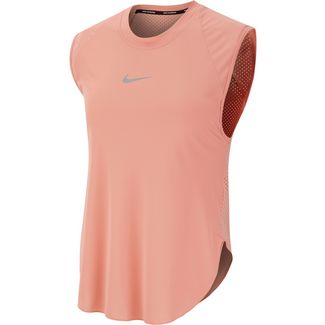 Nike City Sleek Laufshirt Damen pink quartz-reflective silver