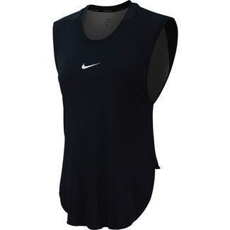 Nike City Sleek Laufshirt Damen black-thunder grey-reflective silver
