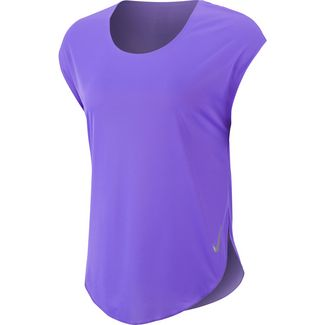 Nike City Sleek Laufshirt Damen psychic purple-reflective silver