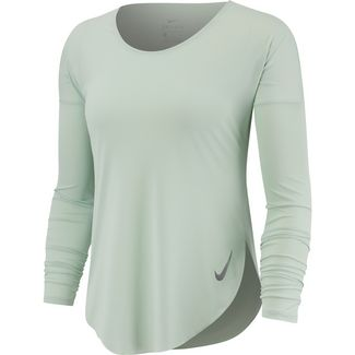 Nike City Sleek Laufshirt Damen pistachio frost-reflective silver
