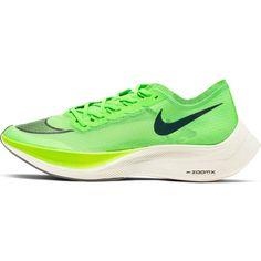 Nike Vaporfly Next% Laufschuhe electric green-black-guava ice