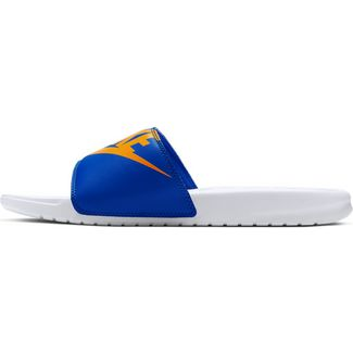 Nike Benassi JDI Sandalen Herren white-university gold-game royal