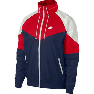 Nike NSW Windrunner Nylonjacke Herren university red-midnight navy-white
