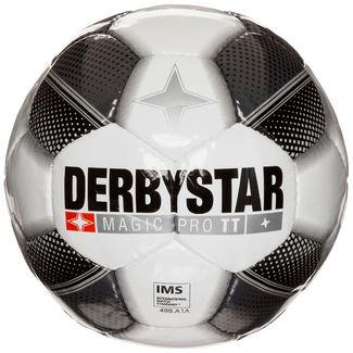 Derbystar Magic Pro TT Fußball weiß / grau