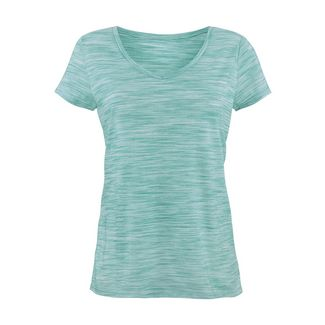BEACH TIME Shirt Doppelpack Damen mint-meliert+grau-meliert