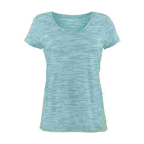 BEACH TIME Shirt Doppelpack Damen mint-meliert+grau-meliert