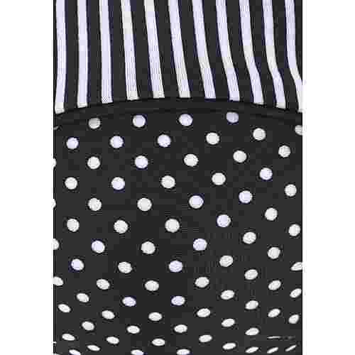 S.OLIVER Bikini Oberteil Damen schwarz-weiß-gepunktet
